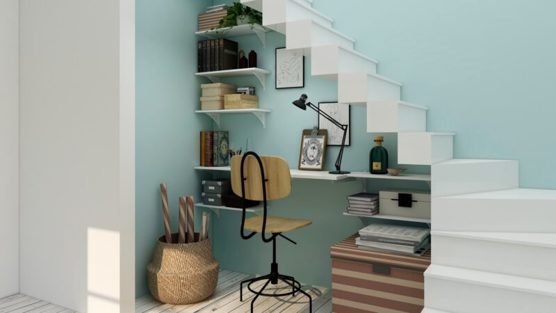 Under stair study area