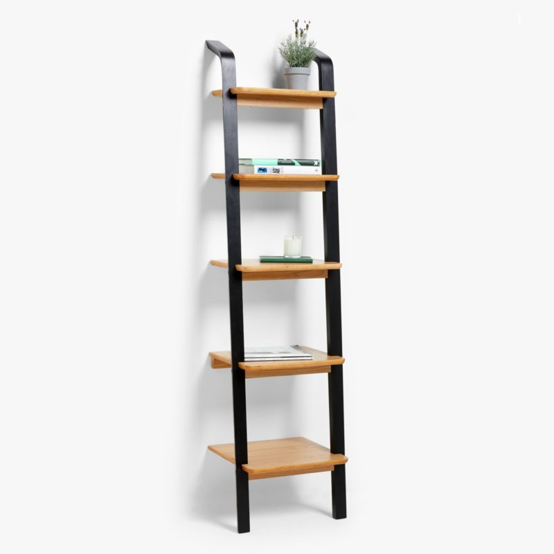 5-tier ladder shelves with black frame