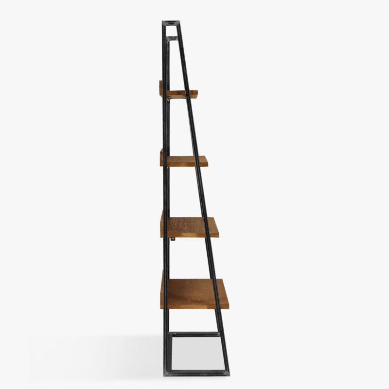 Industrial free-standing bookcase