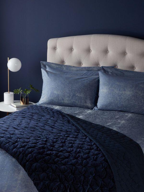Navy bedspread