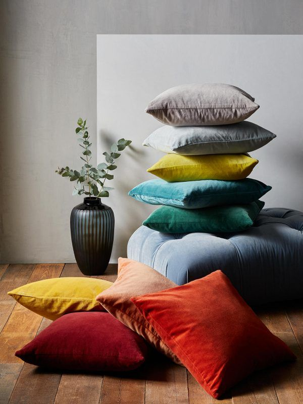 Different coloured cushions