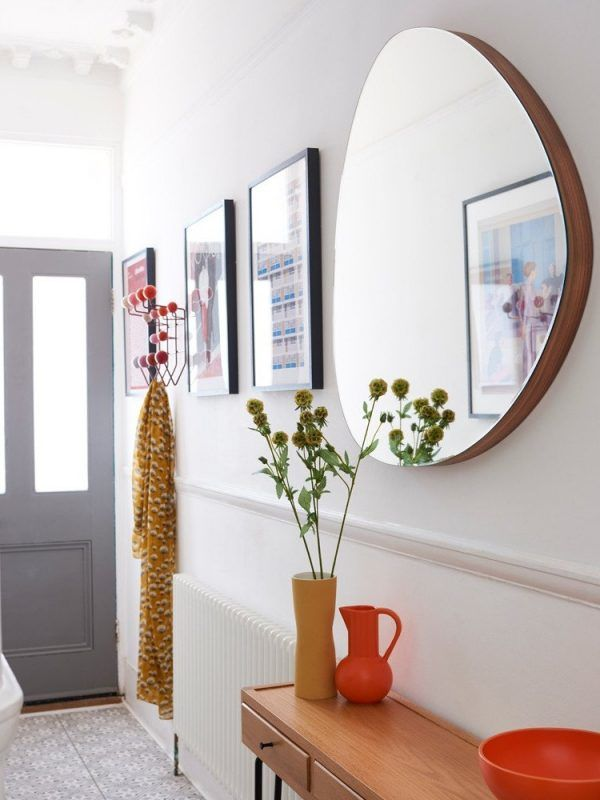 Contemporary hallway mirror