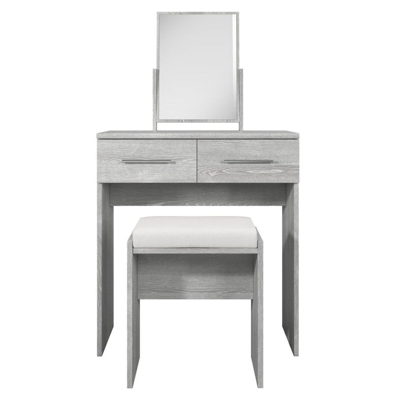 Dressing table with grey oak finish