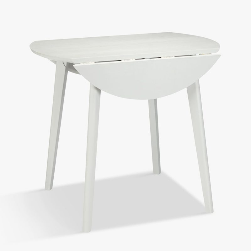 Smok-grey drop leaf dining table