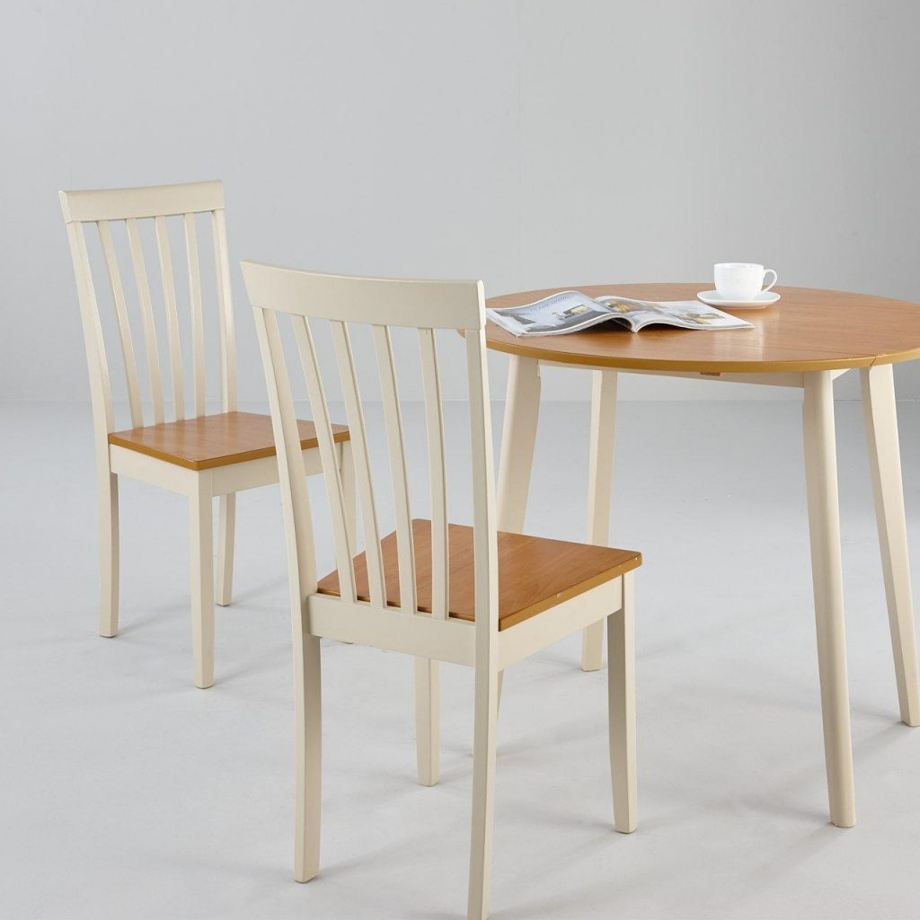 Cream and oak dining set