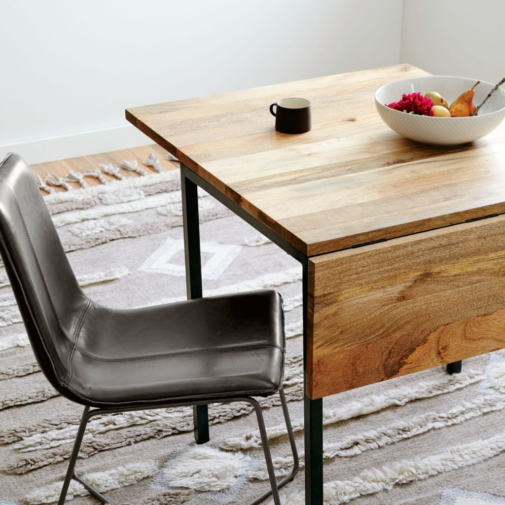 Mango wood drop leaf table
