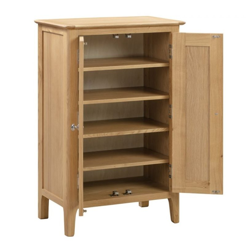 Oak shoe cupboard