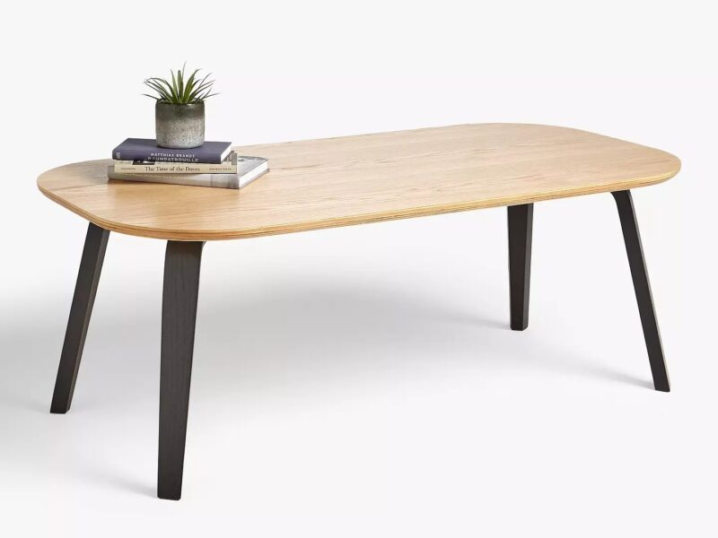 Oak and black coffee table