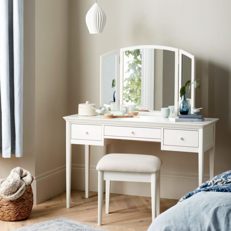 White painted dressing table