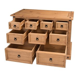 Pine merchant's chest with 9 drawers