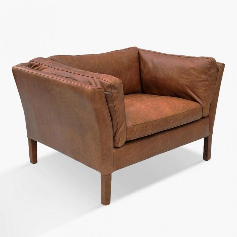 Riders nut leather armchair