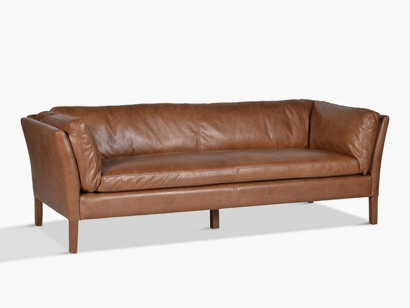 Large leather sofa - rider's nut