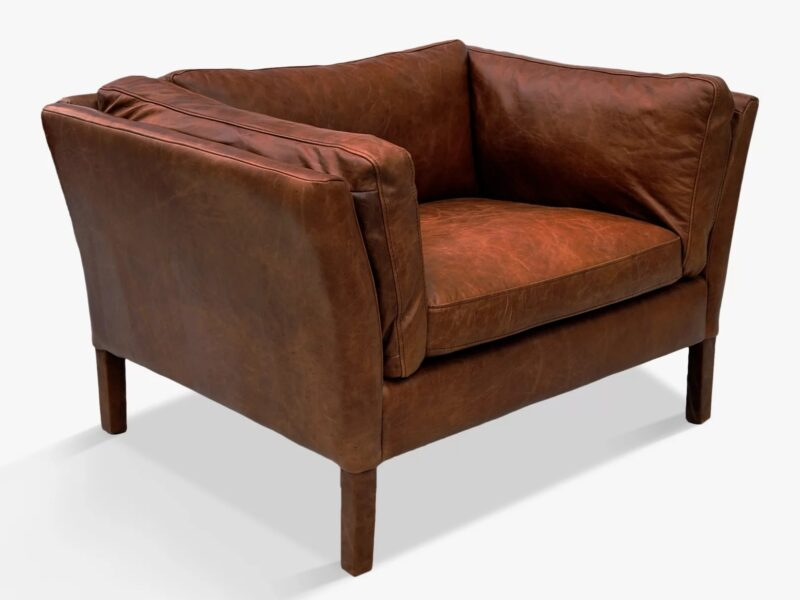 Antique leather Groucho Armchair
