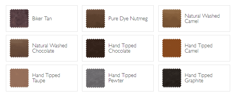 Groucho leather shade options