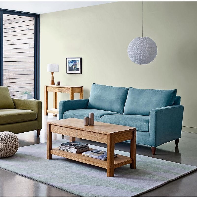 Modern oak storage coffee table