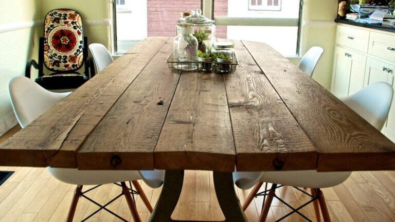 Oak plank table
