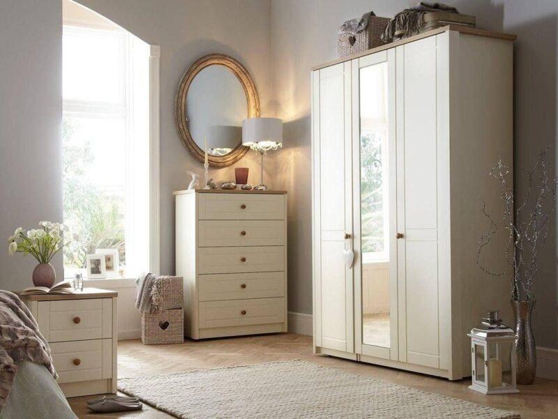 Cream bedroom furniture