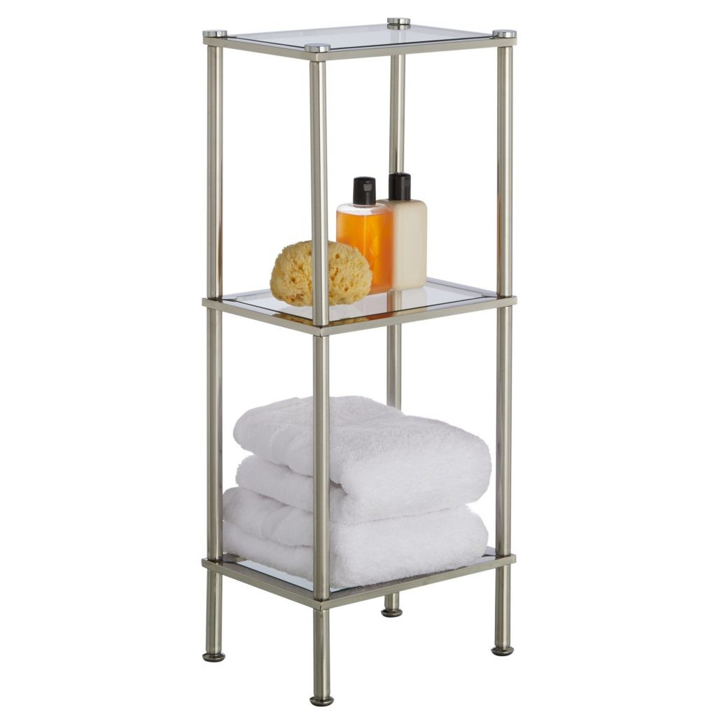 3 Tier Rust Resistant Stainless Steel And Gl Slim Shelving Unit