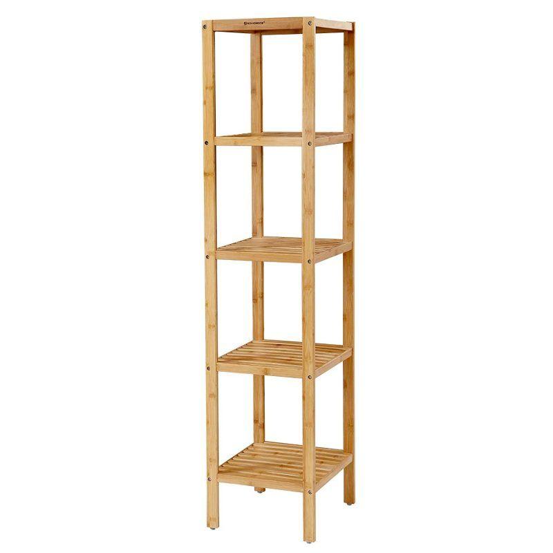 5-tier bamboo shelf unit