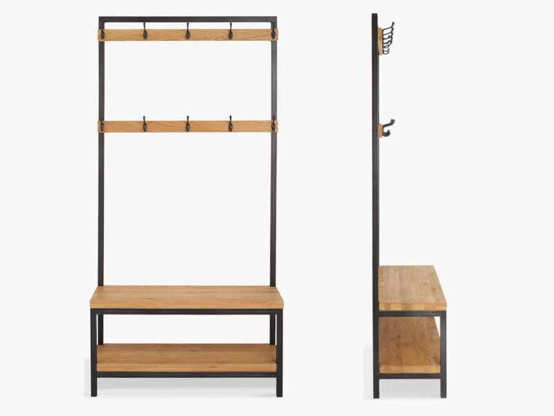 Industrial-chic coat stand