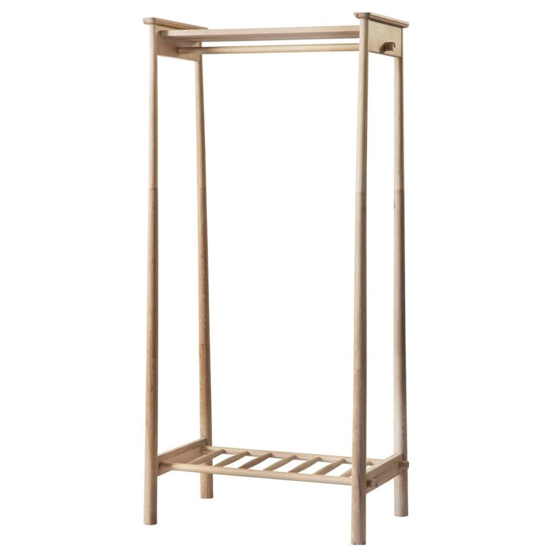 Scand--style oak clothes stand