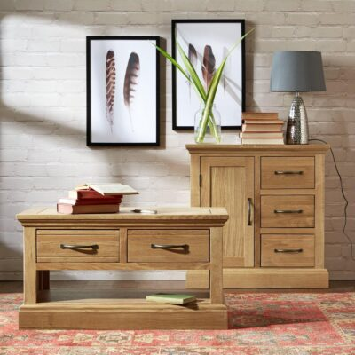 Solid Oak Coffee Table and Sideboard