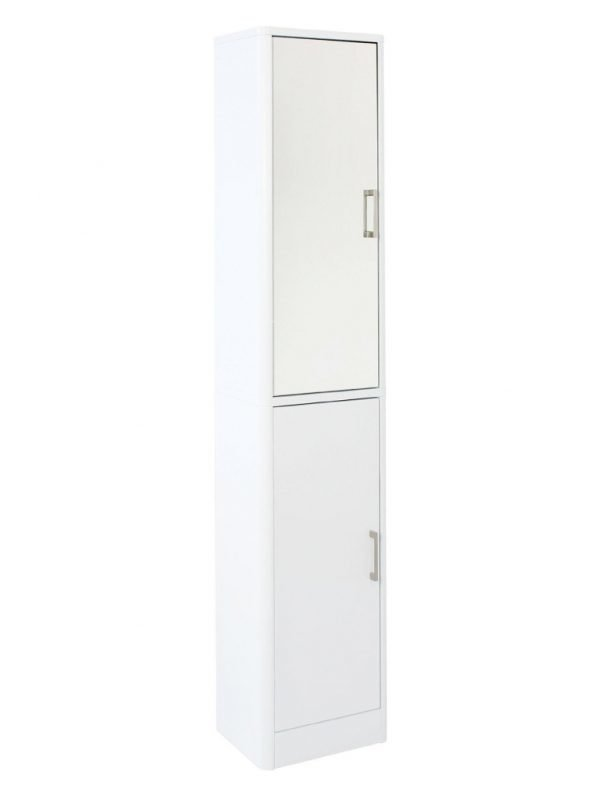 Gloss finish cabinet with mirrored door