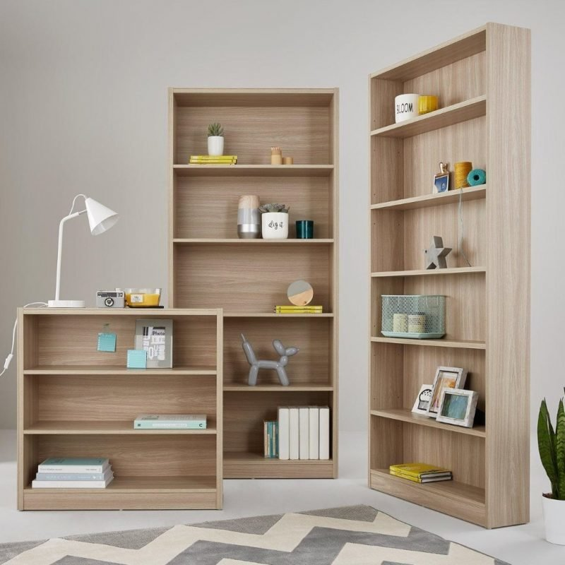 Wood effect bookcases