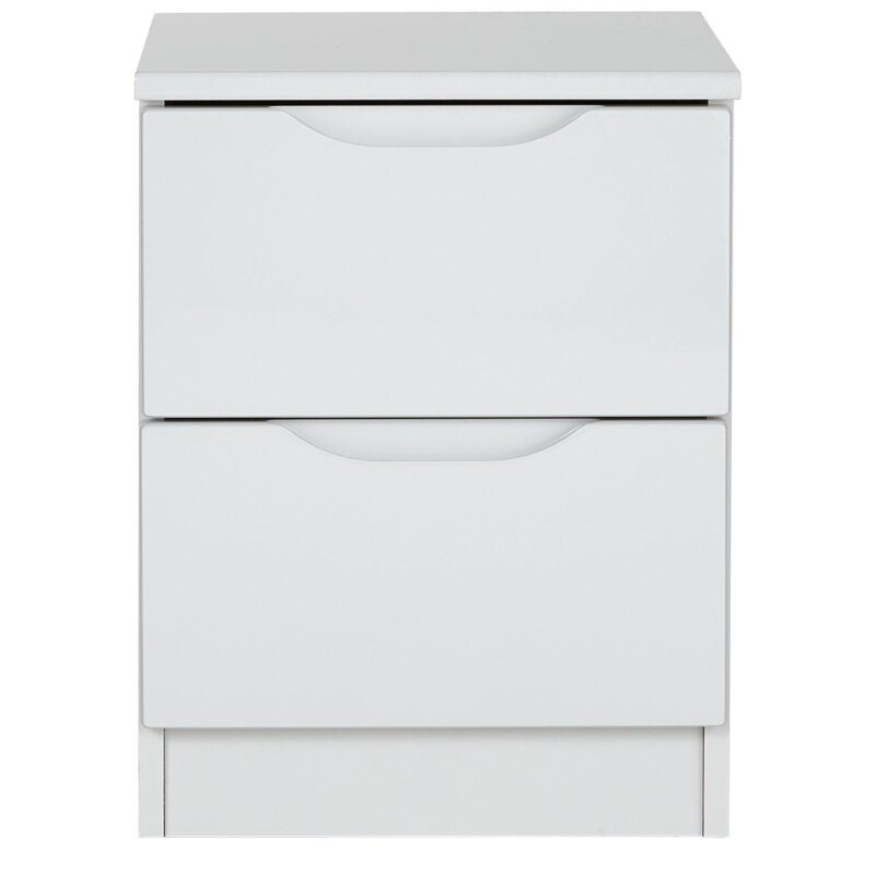 2 Drawer Gloss Bedside Chest