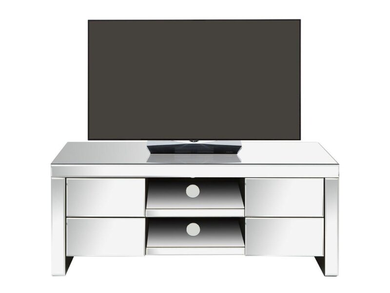 4-drawer TV stand with a mirror finish