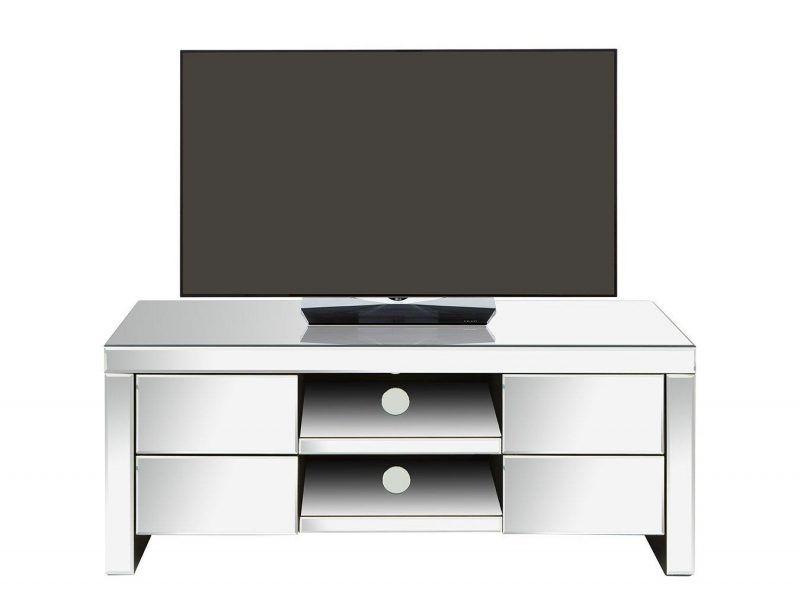Mirror finish TV console