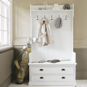 White hall unit with 2 drawers