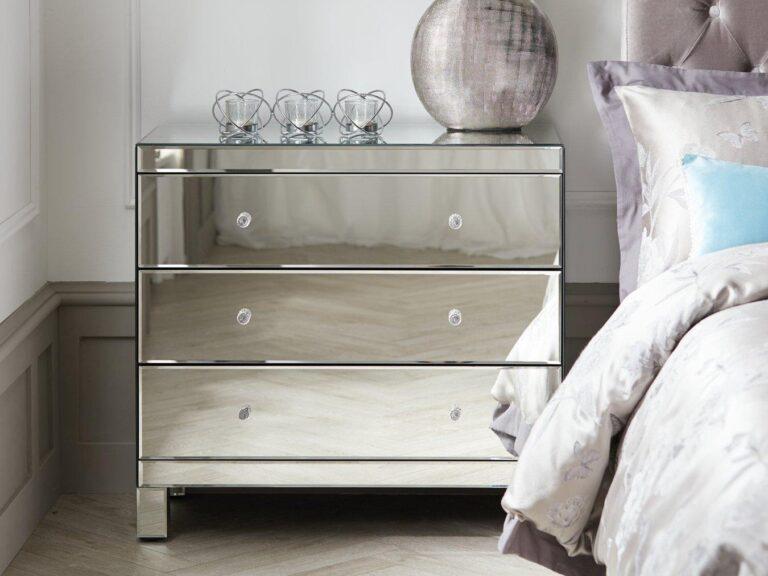 Mirror finish drawer chest