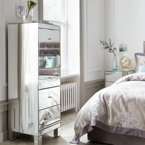5-drawer mirror-finish tallboy