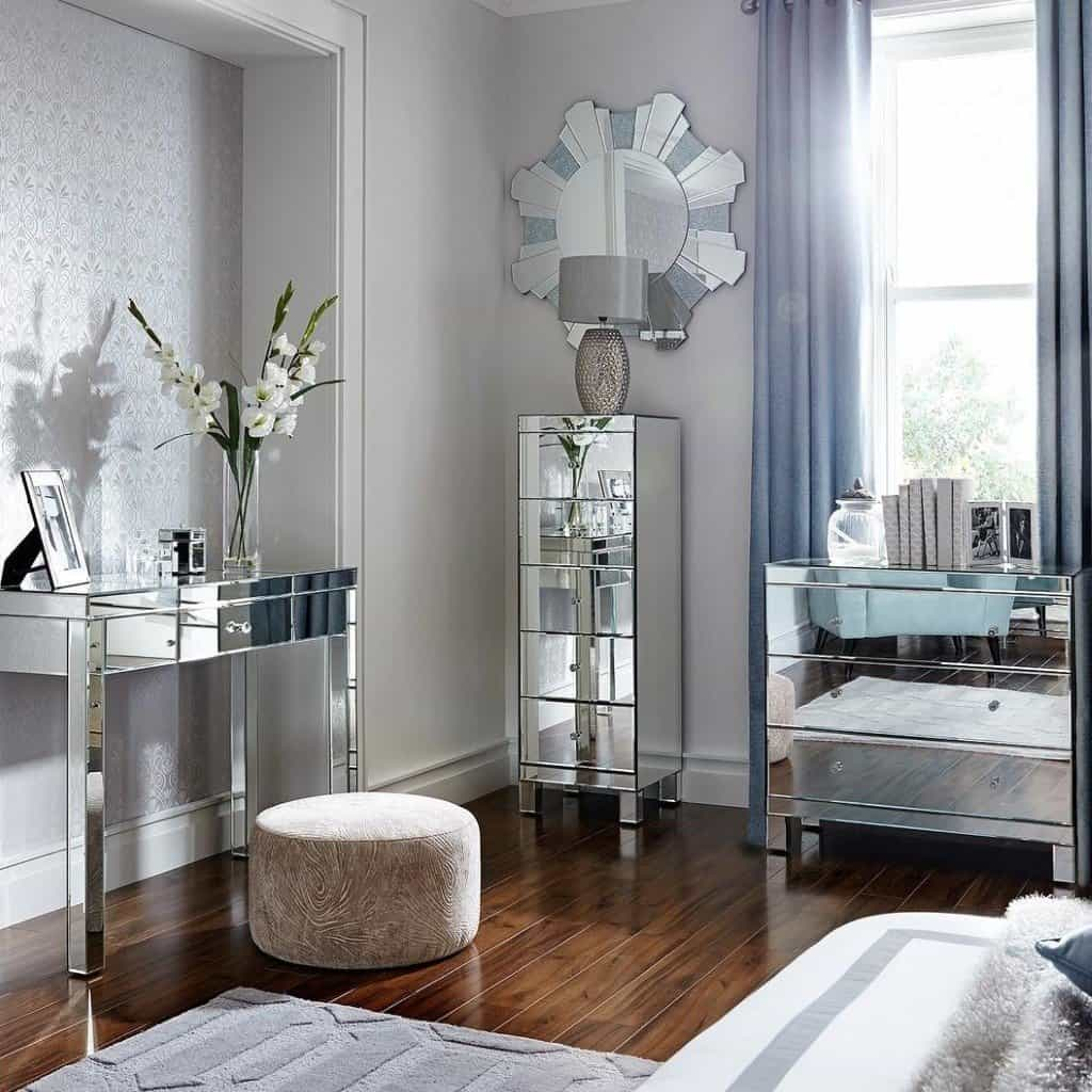 Parisian Ready Assembled Mirrored Furniture The Furniture Co