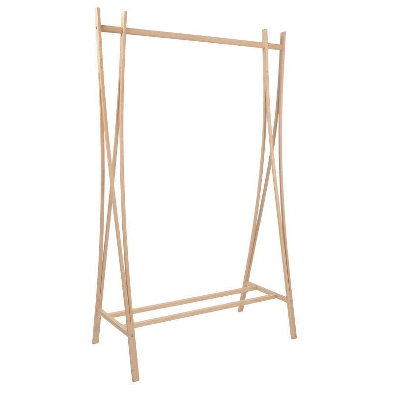Beech wood designer clothes rail