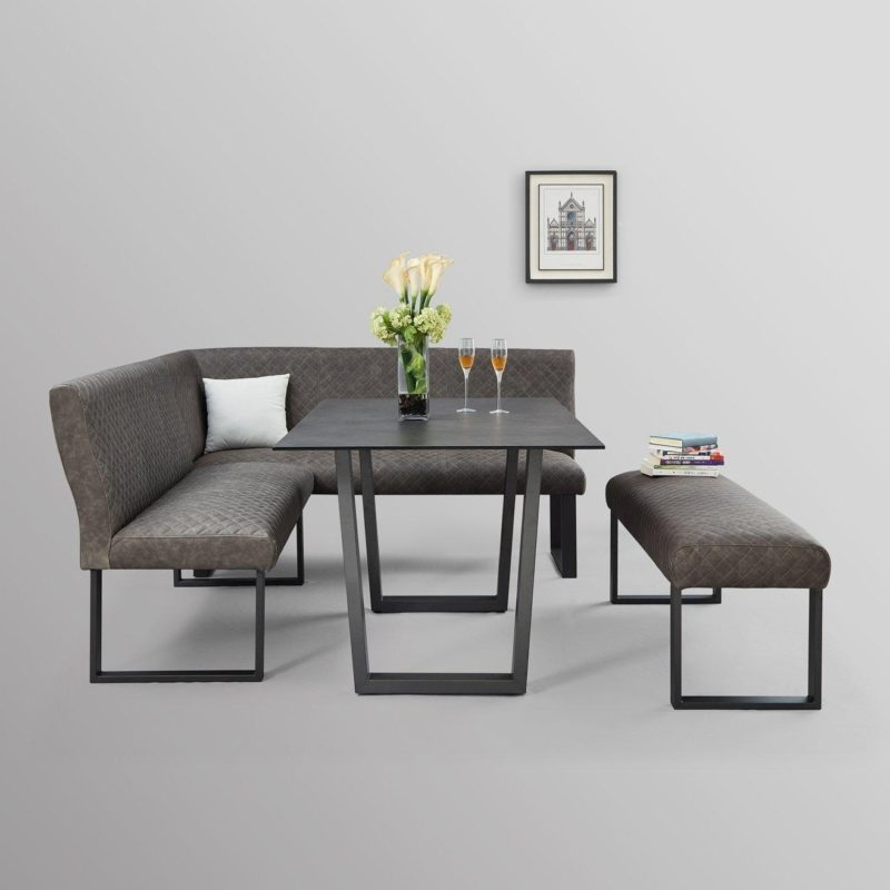 Dining table, bench and corner bench
