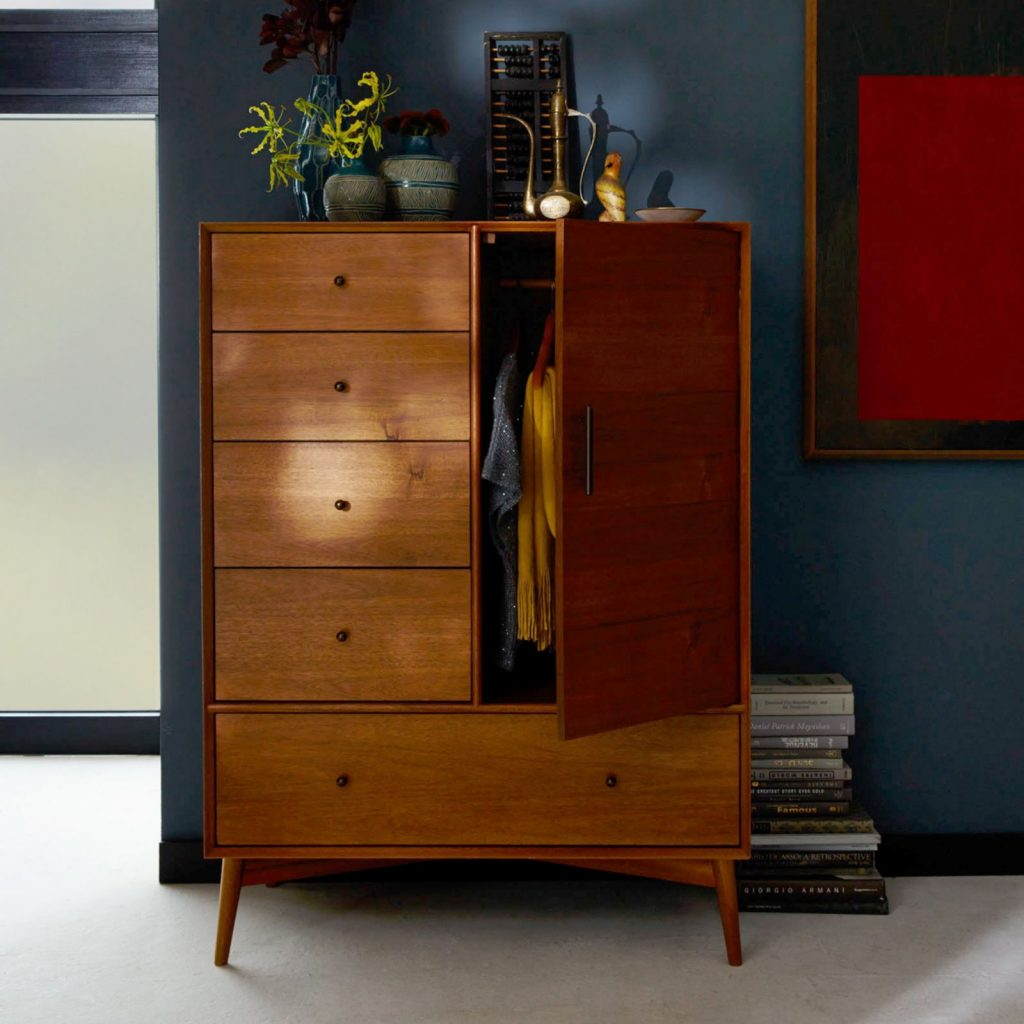 Retro-style combined cupboard and drawer unit