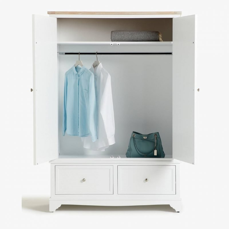Painted wardrobe with 2 drawers