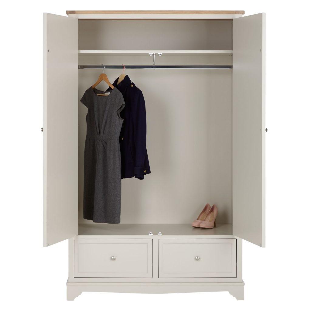 Grey-painted wardrobe
