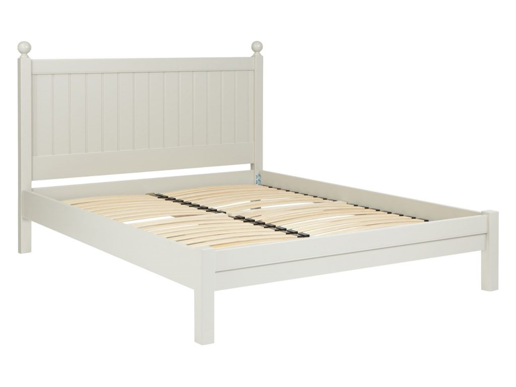 Grey painted bed frame