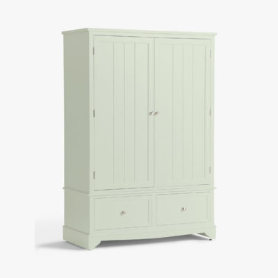 Fern-painted 2 door wardrobe