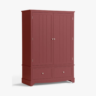 Rosehip painted 2-door wardrobe