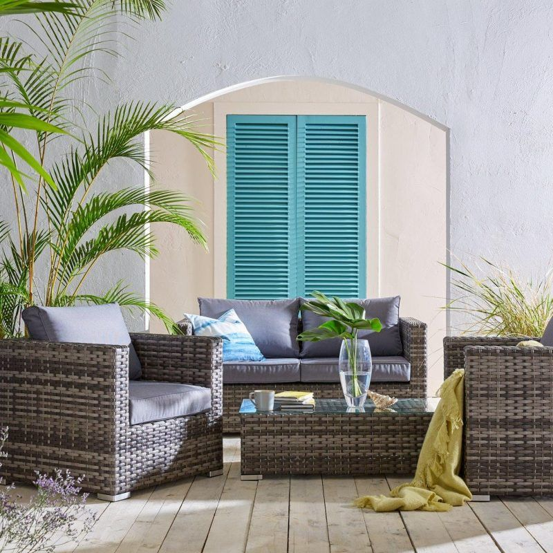4-piece rattan furniture set