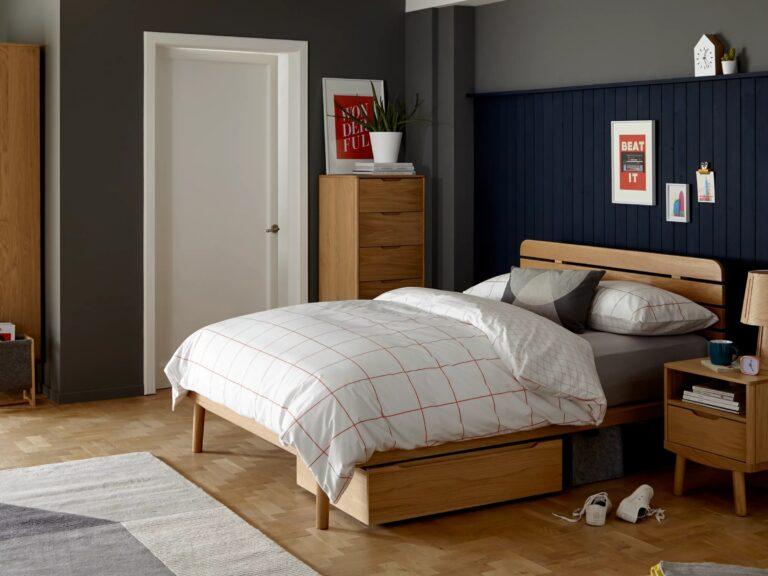 Contemporary oak bedroom furniture