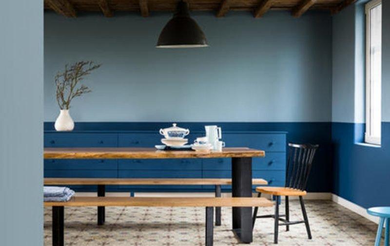 2 tone blue scheme