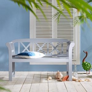 Painted garden bench