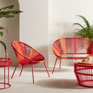 Modern garden furniture in vibrant colours