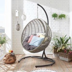 Semi-sphere style garden swing seat