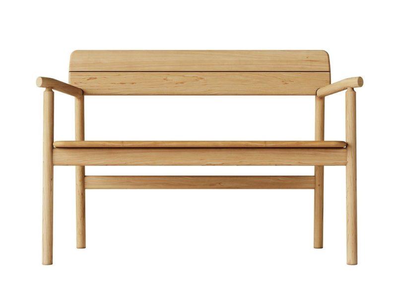 Modern teak bench